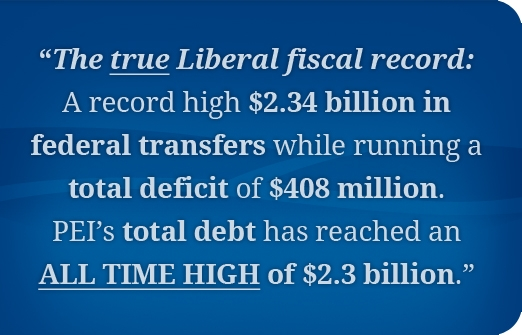 PEI Liberal Fiscal Record