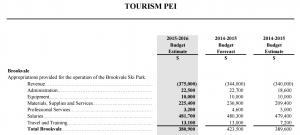 Brookvale Ski Park budget