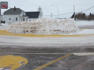 stanley bridge roundabout piled snow 2