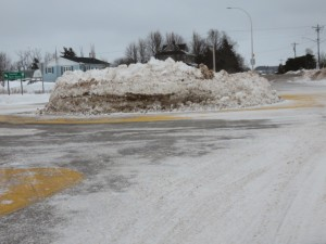 stanley bridge roundabout piled snow 3