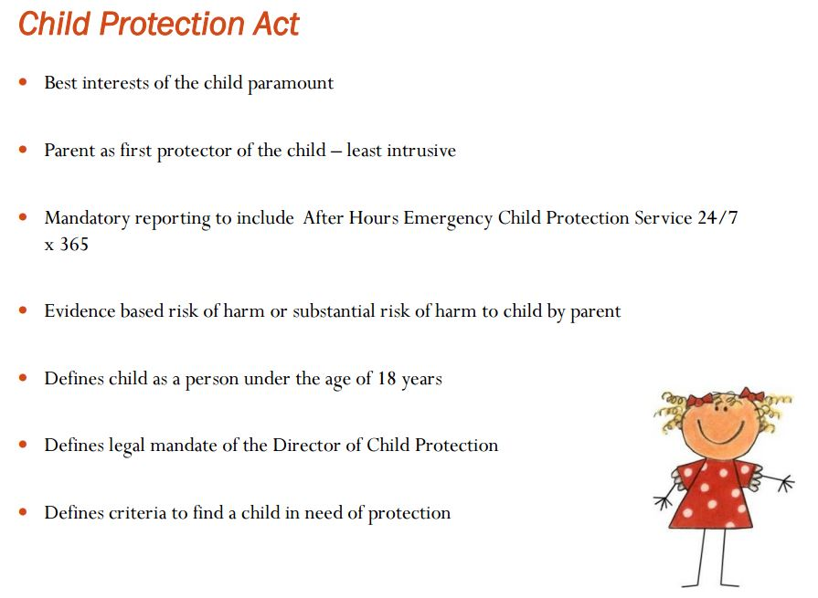Highlights of the Child Protection Act