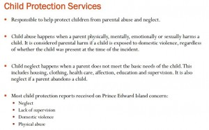 Responsibilities - Child Protection Services