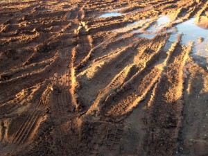 Clay roads in bad condition in spring