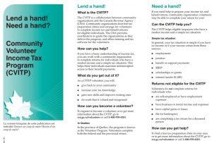 CVITP Brochure - Community Volunteer Tax Program