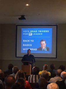 Brad Trivers for PEI PC Leader - announcement Scott Hammill