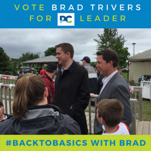 Andrew Scheer with Brad Trivers on Canada Day