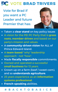 Brad Trivers for PEI PC Leader - Why?