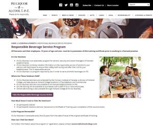 PEI Responsible Beverage Program - servers course