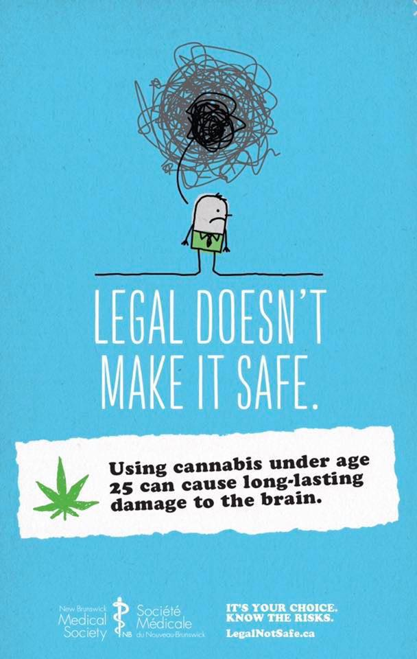 Cannabis Under Age 25 Causes Brain Damage